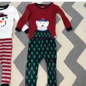 Baby Gap Bear Christmas pajamas 2 years